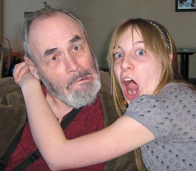 Dave Tomlinson with Katey Montague, March 2007